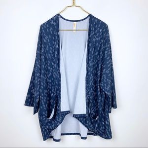 Lucy Printed Athletic Kimono Cardigan Top